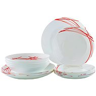 ARCOPAL DOMITILLE RED 18-piece Dining Set - Dish Set