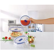 Luminarc PURE BOX ACTIVE Set of Round Boxes 3 Parts - Food Container Set