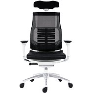 ANTARES Pofit White Frame, Black Net with Picture - Office Chair