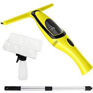 Window cleaner with rod + 1 extra microfiber spatula for free - Window vacuum cleaner