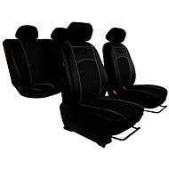 SIXTOL leather seat covers black - Car Seat Covers