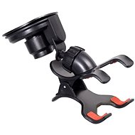 COMPASS Phone/GPS holder with Double CLIPS & suction cup