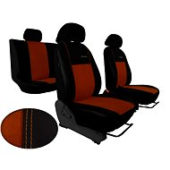 SIXTOL Leather Car Seat Covers with Alcantara EXCLUSIVE brown - Car Seat Covers