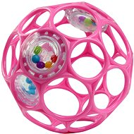 Oball RATTLE 10cm for Babies from Birth, Dark Pnk - Toddler Toy