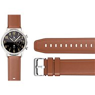 Watch Band Aligator Watch 22mm Leather/Silicone Strap, Brown