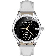 ARMODD Candywatch Crystal 2, Silver with White Leather Strap - Smartwatch