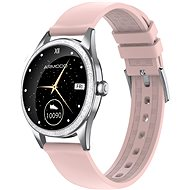 ARMODD Candywatch Crystal 2, Silver with Pink Strap - Smartwatch