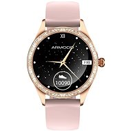 ARMODD Candywatch Crystal 2, Gold with Pink Strap - Smartwatch