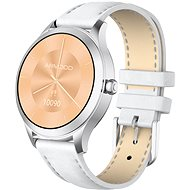 ARMODD Candywatch Premium 2, Silver with White Leather Strap - Smartwatch