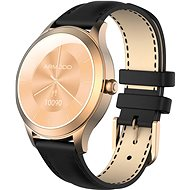 ARMODD Candywatch Premium 2, Gold with Black Leather Strap - Smartwatch