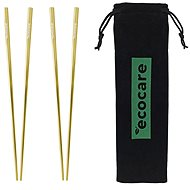ECOCARE Metal Sushi Chopsticks with Gold Packaging 4 pcs