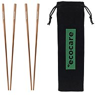 ECOCARE Metal Sushi Chopsticks with Rose Gold Packaging 4 pcs