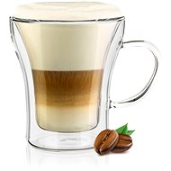 BANQUET Double wall glass mug DOBLO 200ml 4pcs - Glass for Hot Drinks