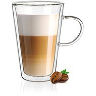 BANQUET Double wall glass mug DOBLO 330ml 4pcs - Glass for Hot Drinks