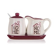BANQUET HOME Collection Milk Jug and Sugar Bowl Set, 4pcs - Set