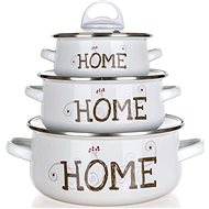 BANQUET HOME Coll. Set of Enamel Dishes, 6 pcs - Cookware Set