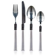 BANQUET Set of stainless steel cutlery with plastic handles LINES, 24 pcs - Cutlery