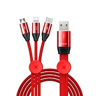 Baseus Car Co-sharing 3-in-1 Cable USB 3.5A 1m Red - Extension Cable