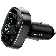 Baseus T-typed S-09 Wireless MP3 Car Charger FM Transmitter Black - Car Charger