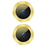 Baseus Alloy Protection Ring Lens Film for iPhone 11, Yellow - Screen Protector
