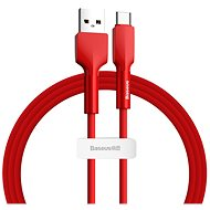 Baseus Silica Gel Cable USB to Type-C (USB-C) 1m Red - Data Cable