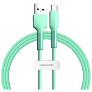 Baseus Silica Gel Cable USB to Type-C (USB-C) 1m Green - Data cable