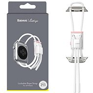 Baseus Lockable Rope Strap for Apple Watch 42mm / 44mm White & Pink - Watch band