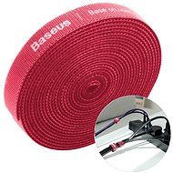 Baseus Rainbow Circle Velcro Straps 3m Red - Cable Organiser