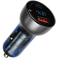 Baseus Digital Display PPS Dual Quick Car Charger 65W Light Ochre - Car Charger