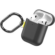 Baseus Woven Label Hook Protective Case for AirPods 1 / 2 Gen Grey/Yellow - Headphone Case