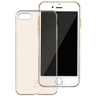 Baseus Simple Series Case for Apple iPhone7/iPhone 8/iPhone SE 2020, Transparent Gold - Mobile Case