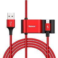 Baseus Special Lightning Data Cable + 2× USB for Backseat of Car, Red