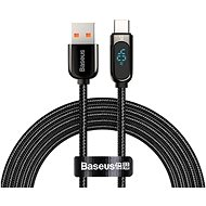 Baseus Display Fast Charging Data Cable USB to Type-C 5A 2m Black