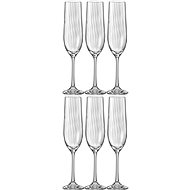 Bohemia Crystal Champagne Glass WATERFALL 190ml 6 piece-set - Glass for Champagne