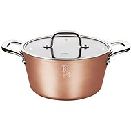 BerlingerHaus Marble-Coated Casserole with Lid 20cm Bronze Titan Collection BH-1688
