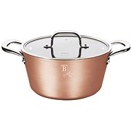 BerlingerHaus Marble-Coated Casserole with Lid 24cm Bronze Titanium Collection BH-1689