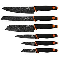 Berlinger Haus 6 pcs Knife Set with Marble Coating, Granit Diamond Line - Black - Knife Set