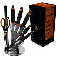 Berlingerhaus set of kitchen knives 8pc Granit Diamond Line Black