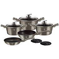 Berlinger Haus Cookware Set 10pcs Carbon Metallic Touch Line