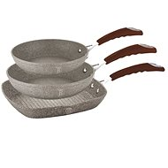 BerlingerHaus Frying Set 3pcs Beige Stone Touch Line - Pans set