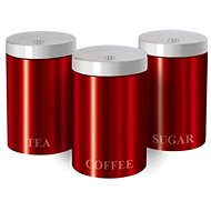BerlingerHaus Set of Red Metallic Passion Cans 3 pcs - Food Container Set