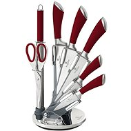 BerlingerHaus Knife Set 8pcs with Stand Infinity Line Red - Knife Set