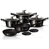Berlinger Haus 10-Piece Marble Coated Cookware Set Royal Black Edition BH-1663 - Cookware Set