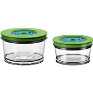 Bosch 2 Round Vacuum Containers (0.75l + 1.5l) - Food Container Set