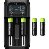 AlzaPower USB Battery Charger AP250B + Rechargeable HR6 (AA) 2500 mAh 4pcs - Battery Charger