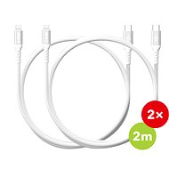 AlzaPower AluCore USB-C to Lightning MFi 2m silver (2pcs) - Data cable