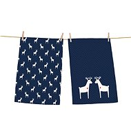 Butter Kings Set of 2 Wipes, REINDEER FAMILY - Dish towel