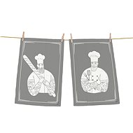 Butter Kings set of 2 towels, hipster chef - Dish towel