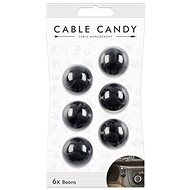 Cable Candy Beans 6-pack black - Cable Organiser