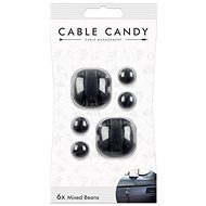 Cable Candy Mixed Beans 6-pack black - Cable Organiser